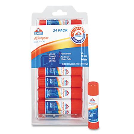 Elmer's All-Purpose Permanent Glue Sticks  24/Pack