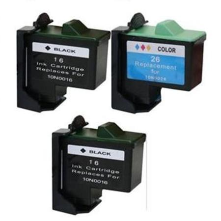 Compatible Multipack Lexmark No.16/No.26 Full Set + 1 EXTRA Black Inkjet Cartridges