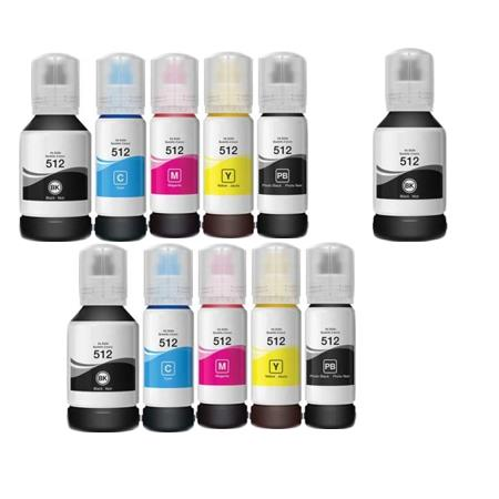 Compatible Multipack Epson T5120/24 2 Full Sets + 1 EXTRA Black Ink Bottles