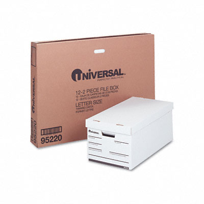 Universal Lift-Off Lid File Storage  Ltr  Fiberboard  12 x 24 x 10  WE  12/Ctn