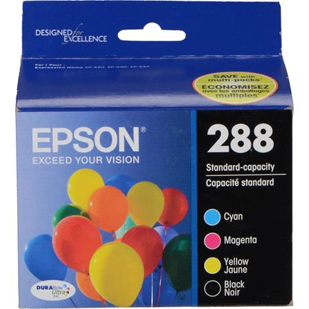 Epson 288 (T288120-BCS) Black and Color Original DURABrite Ultra Standard Capacity Ink Cartridge Multipack