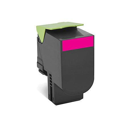 Lexmark 80C1HM0 Magenta Remanufactured High Capacity Toner Cartridge