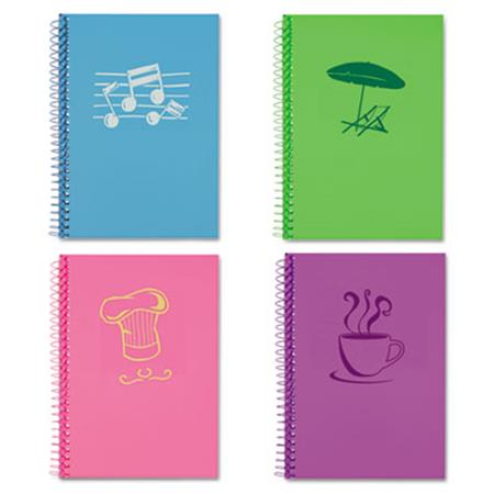 Roaring Spring Lifenotes Notebook  College Rule  7 x 5  80 Sheets    Assorted Covers  4 /Pack