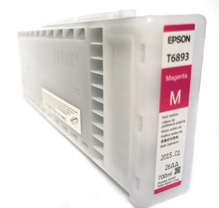 Epson T6893 (T689300) Magenta Original UltraChrome GS2 Ink Cartridge (700ml)