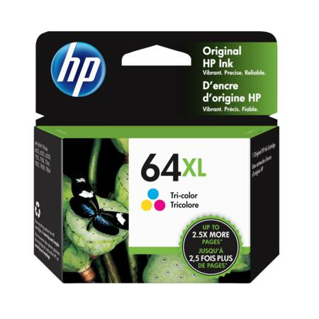 HP 64XL (N9J91AN) Tri-Color Original High Capacity Ink Cartridge