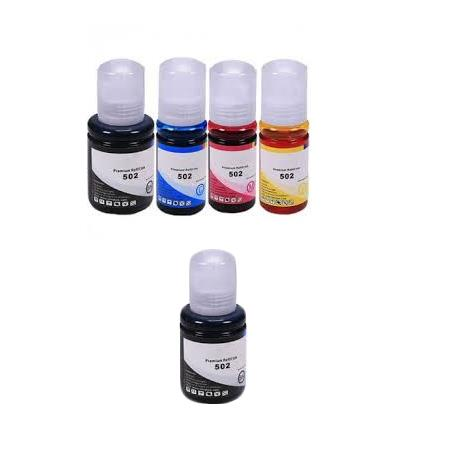 T5021/24 Full Set + 1 EXTRA Black Remanufactured Ink Bottles