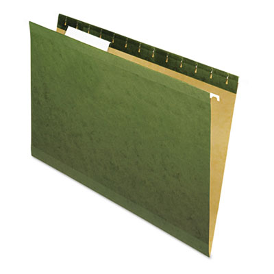 Universal Reinforced Recycled Hanging Folder 1/3 Cut Legal Standard Green 25/Box