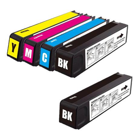 970XL/971XL Full Set+ 1 EXTRA Black Remanufactured Inks