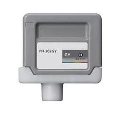 Compatible Grey Canon PFI-302GY Ink Cartridge (Replaces Canon 2217B001AA)