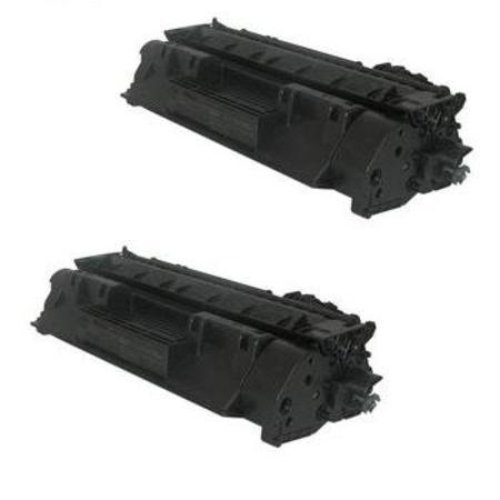 05A Black Remanufactured Toner Cartridges Twin Pack
