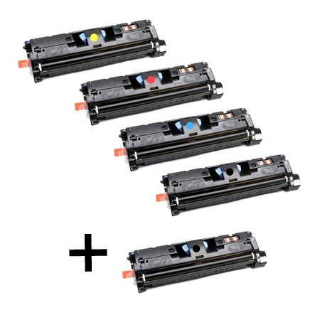 C9700A/03A Full Set + 1 EXTRA Black Remanufactured Toner Cartridge