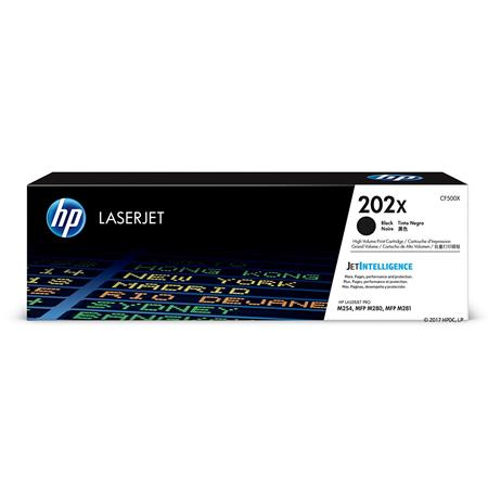 HP 202X Black Original High Capacity Toner Cartridge (CF500X)