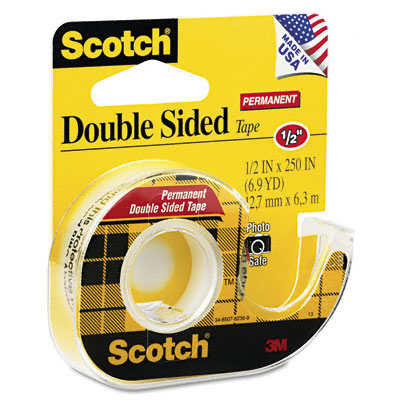 Scotch 665 Double-Sided Office Tape w/Hand Dispenser  1/2 inch x 250 inch
