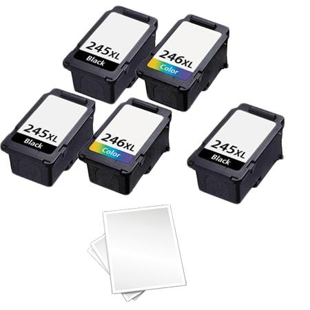PG-245XL/CL-246XL 2 Full Sets + 1 EXTRA Black Remanufactured Ink Cartridges and Free paper