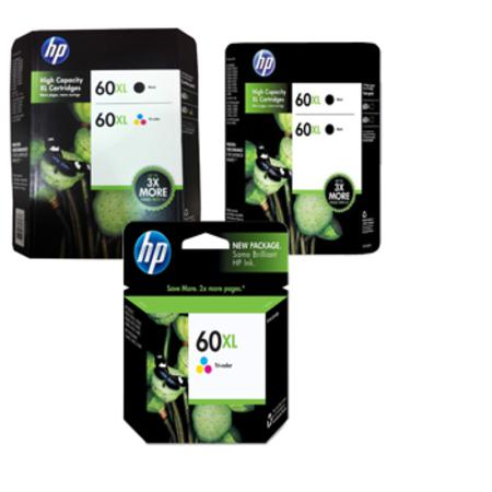 Compatible Multipack HP 60XL 2 Full set + 1 EXTRA Black Ink Cartridges