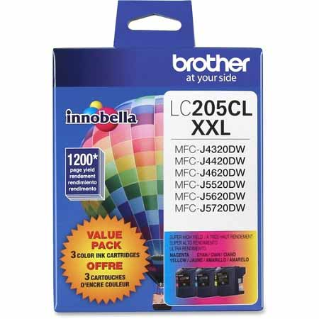Brother LC2053PKS Original Extra High Capacity Ink Cartridges - 3 Pack C/M/Y