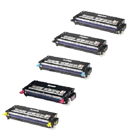 330-11908/1199/1200/1204 Full Set + 1 EXTRA Remanufactured Toners