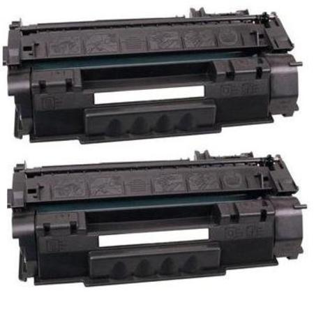 49X Black Remanufactured Toner Cartridges Twin Pack