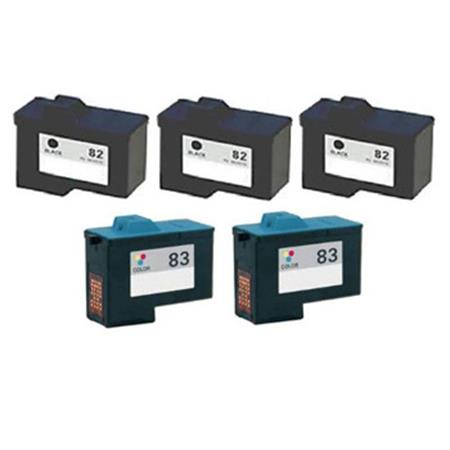 Compatible Multipack Lexmark No.82/No.83 2 Full Sets + 1 EXTRA Black Inkjet Cartridges