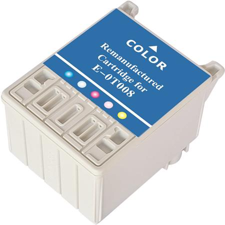Epson T008 (T008201) Color Remanufactured Ink Cartridge