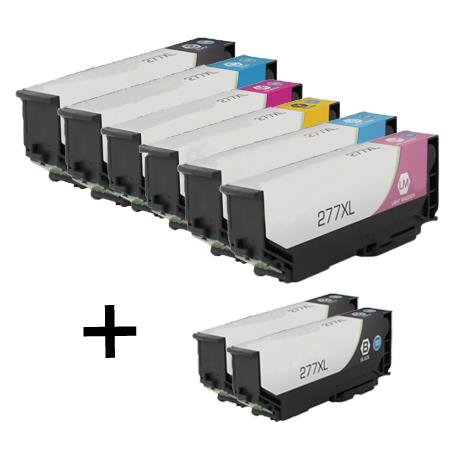 Clickinks 277XL Full Set + 2 EXTRA Black Remanufactured Inks
