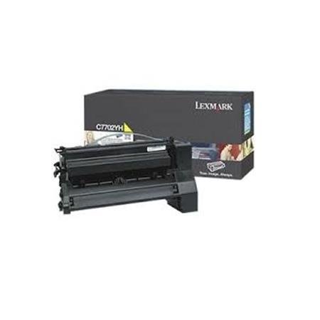 Lexmark C7706CH Original Cyan High Yield Return Program Laser Toner Cartridge