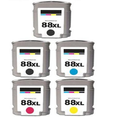 Clickinks 88XLBK/C/M/Y Full set + 1 EXTRA Black Remanufactured Inks