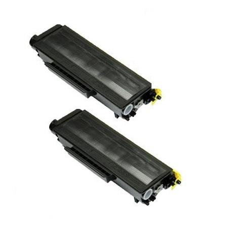 TN580 Black Remanufactured Toners Twin Pack