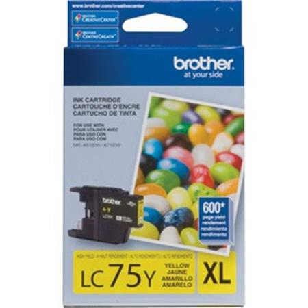 Brother LC75 (LC75Y) Yellow Original High Yield Ink Cartridge