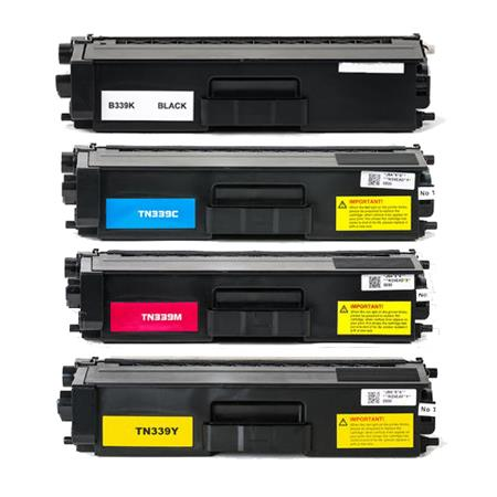 TN339BK/C/M/Y Full Set Full Set Remanufactured Toner Cartridges
