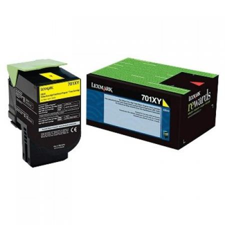 Lexmark 70C1XY0 Yellow Original Extra High Capacity Return Program Toner Cartridge