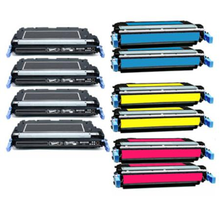 Compatible Multipack HP CB400A/03A 2 Full Sets + 2 EXTRA Black Toner Cartridges