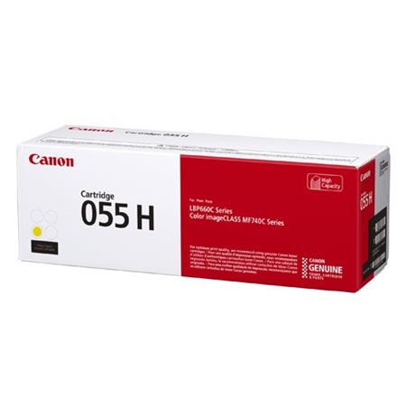 Canon 055H (3017C001) Yellow Original High Capacity Toner Cartridge