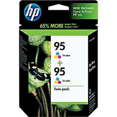 HP 95 (CD886FN) Original Tri-Color Ink Cartridge (Twin Pack)