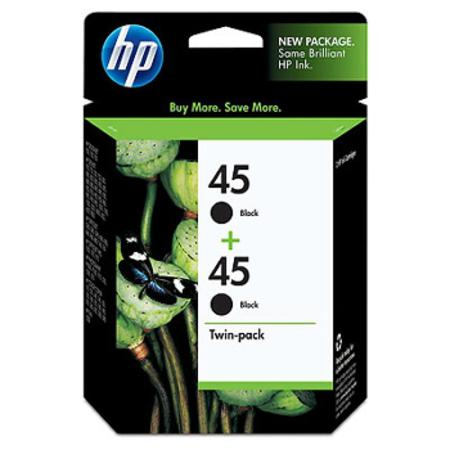 HP 45 Twinpack Black Original Inkjet Print Cartridge (C6650FN)