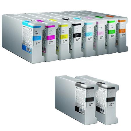 T6241/248 Full Set + 2 EXTRA Black Remanufactured Inks