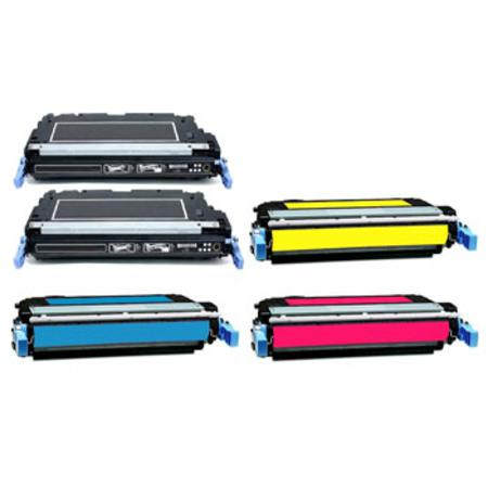 CB400A/03A Full Set + 1 EXTRA Black Remanufactured Toner Cartridge