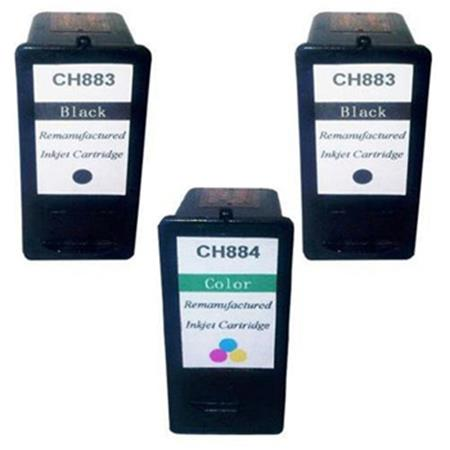 CH883/CH884 Full Set + 1 EXTRA Remanufactured Ink