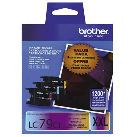 Brother LC793PKS Color Original Extra High Capacity Ink Cartridge Multipack - 3 Pack