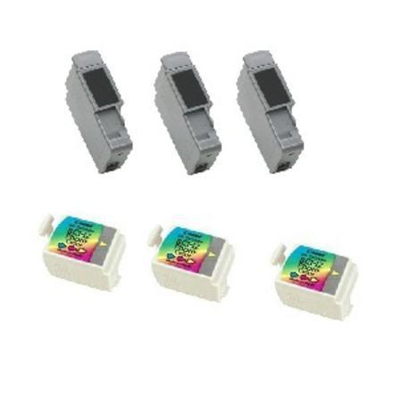 Compatible Multipack Canon BCI-15BK/BCI-16C 3 Full Sets Inkjet Cartridges