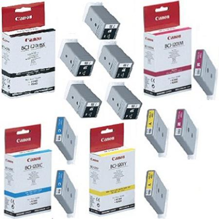 BCI-1201 BK/C/M/Y 2 Full Sets + 3 EXTRA Black Compatible Inks