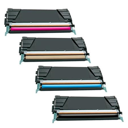 Compatible Multipack Lexmark X746H1KG/CG/MG/YG Full Set Toner Cartridges