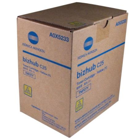 Konica Minolta TNP27Y Yellow Original Toner Cartridge (A0X5233)