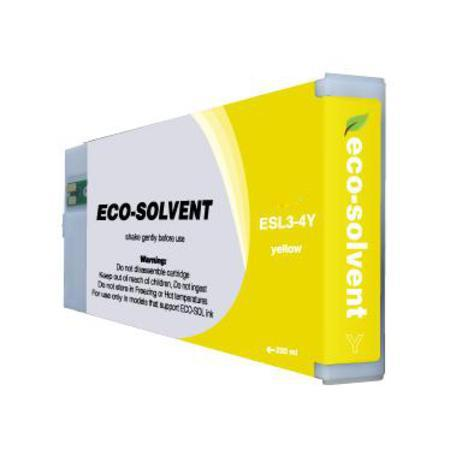 Compatible Yellow Roland ESL3-4YE Eco-Sol Max High Yield Ink Cartridge