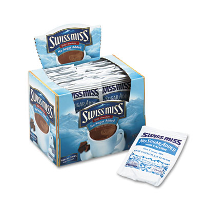 Swiss Miss Hot Cocoa Mix  No Sugar Added  24 Packets/Box