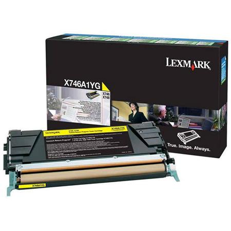Lexmark X746A1YG Yellow Original Standard Capacity Return Program Toner Cartridge