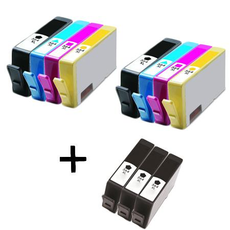 564XLBK/C/M/Y 2 Full set + 3 EXTRA Black Remanufactured Inks