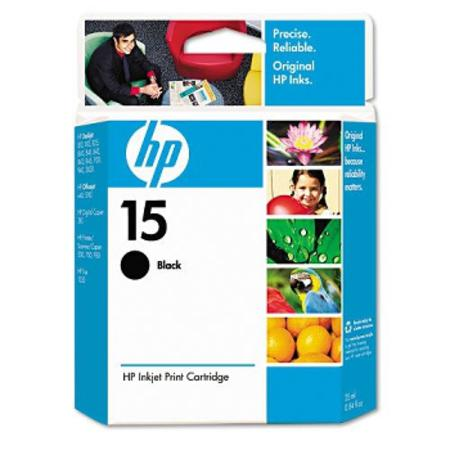 HP 15 Black Original Inkjet Print Cartridge (C6615DN)