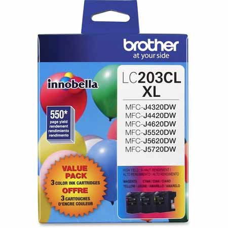 Brother LC2033PKS Original High Capacity Ink Cartridges - 3 Pack C/M/Y