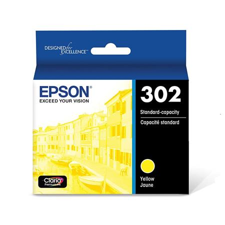 Epson 302 (T302420-S) Yellow Original Standard Capacity Ink Cartridge
